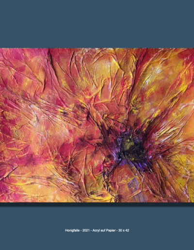 Angelika Neumann - Honigfalle - 2021 Acryl auf Papier 30 x 42